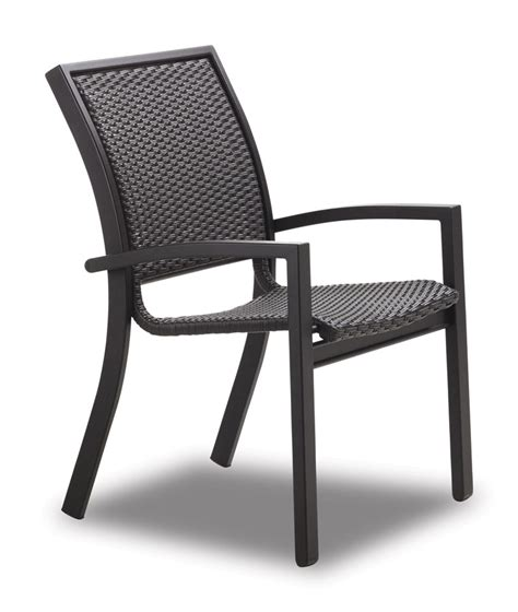 Telescope Casual Kendall Wicker Stacking Cafe Chair Ohio Telescope Outdoor Furniture