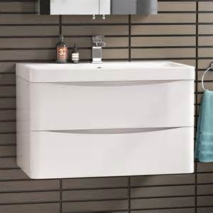 800 x 510mm modern white bathroom vanity unit