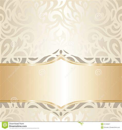 Wedding Banner Wallpaper by Wedding Vintage Wallpaper Design White Gold Vector Stock