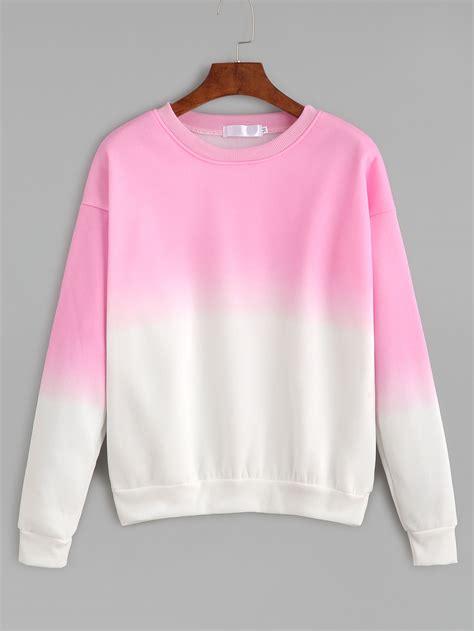 drop shoulder sweatshirt ombre drop shoulder sweatshirt shein sheinside