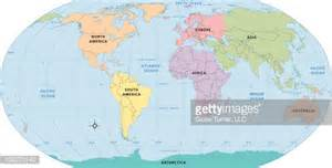 World Map Without Labels by World Map Continent Labels Vector Art Getty Images