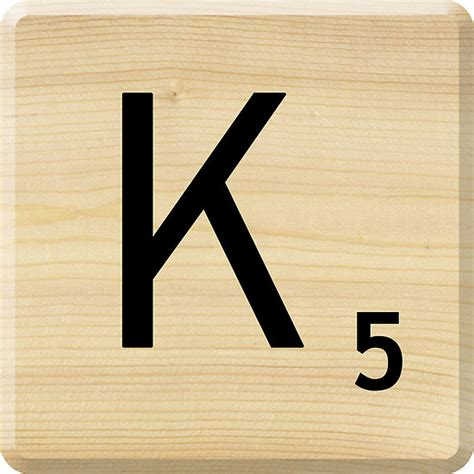 Quot Scrabble Letter K Quot By Scrabbler Redbubble Letters