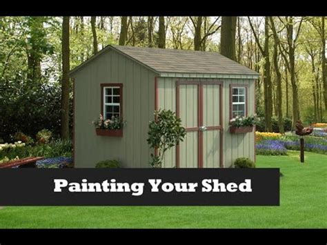 outdoor shed paint