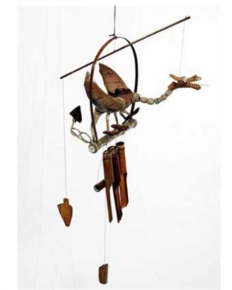 proposte wind mobile carved wood windchime bamboo garden wind