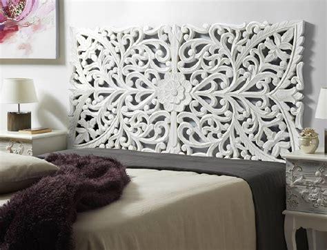 cabeceros de cama de madera tallada india exotica detalles  ideas