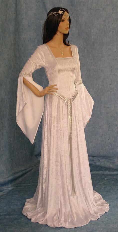 Elven Dress, Celtic Wedding Dress, Girdle Belt, Medieval Dress, Renaissance Dress, Elven Wedding