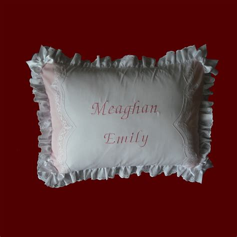 Personalized Baby Pillow keepsake personalized baby pillow christening pillows smocked treasures