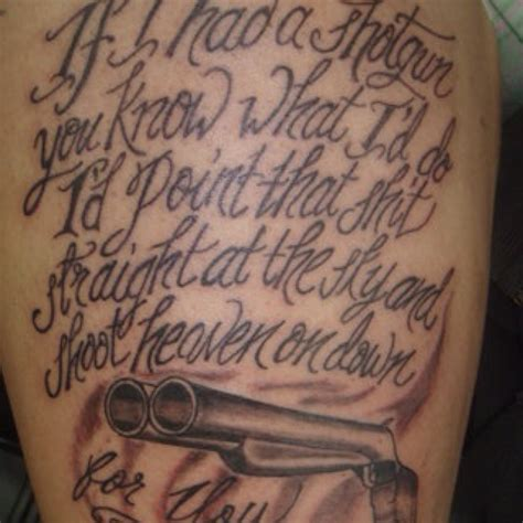 shotgun tattoo sublime shotgun if i had a shotgun you