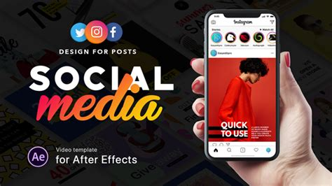 Social Media Design For Posts Download Videohive 21371841 Social Media After Effects Template Free