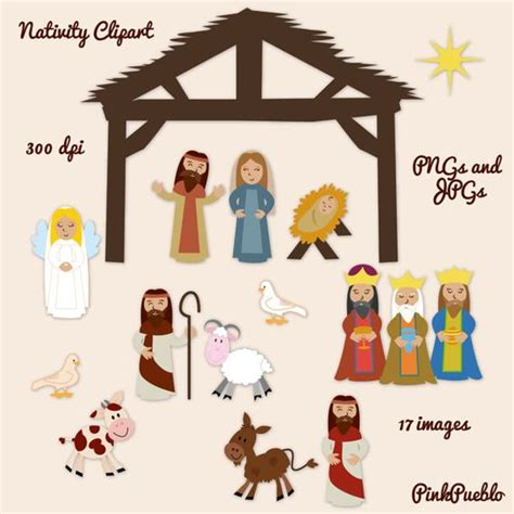 printable nativity scene cutouts nativity clip art clipart nativity scene clip art clipart