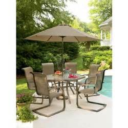 sears patio set grandview glass 7 patio set enjoy the outdoors