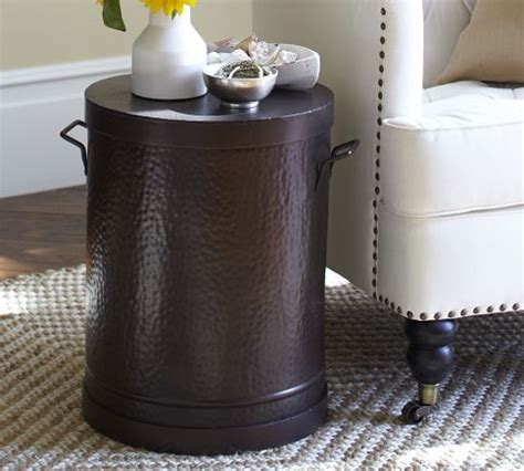 Metal Drum Accent Table The Rawson Metal Drum Accent Table