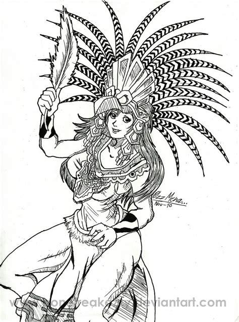 imagenes de aztecas blanco y negro chica azteca by ozzmena on deviantart
