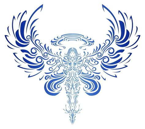 tribal wing tattoo designs tribal bird open wings design