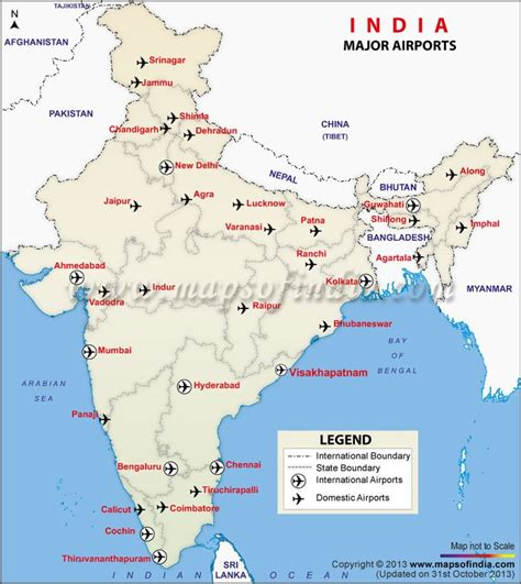us map showing major airports map of major airports in india india thematic maps