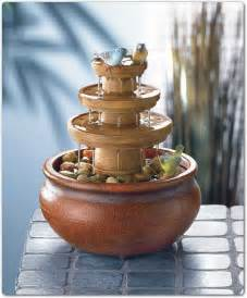 adding beautiful tabletop fountains to decorating your