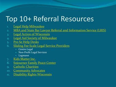 Mba Lawyer Referral Service by Ppt Marquette Volunteer Clinic Powerpoint