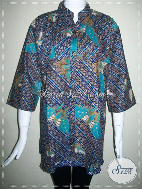 Blus Batik Biru Xl blus batik wanita warna biru keunguan baju batik wanita