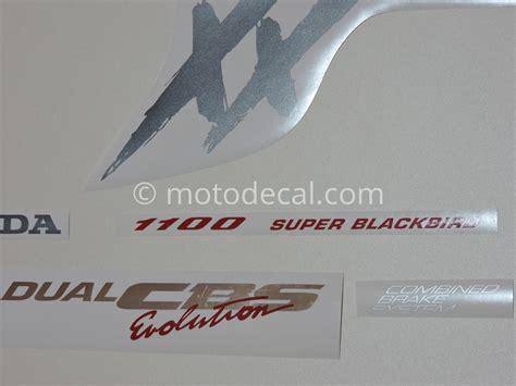 Honda Cbr 1100 Aufkleber by Honda Cbr 1100xx 1996 1998 Titanium Decal Kit By Motodecal
