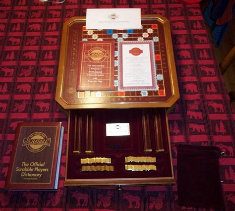 scrabble gold edition franklin mint classic scrabble collectors edition 24k