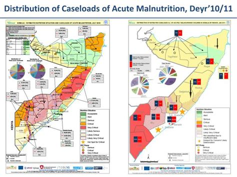 caseload distribution ppt food security and nutrition analysis unit somalia powerpoint presentation id 365360