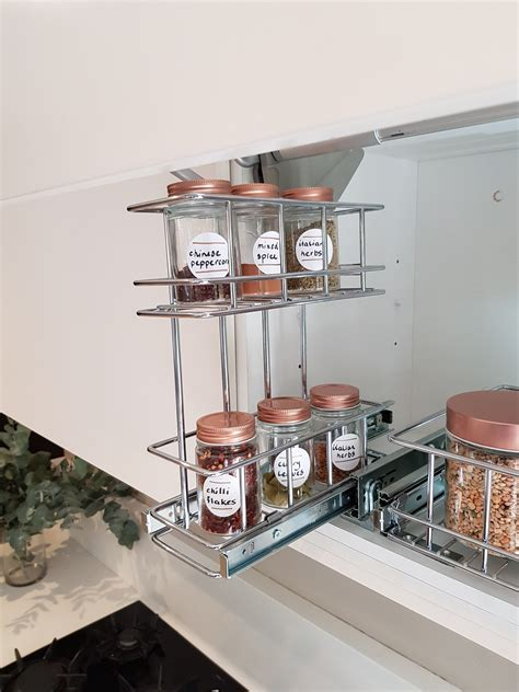 Overhead Pull Out Spice Rack   TANSEL Storage