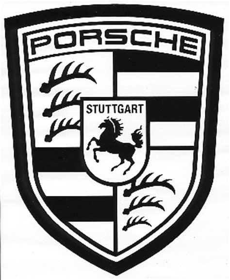 porsche logo black and white decal auto manufacturer porsche logo small 3 1 2 quot x 4 1