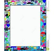 Kids Colorful Themed Frame Border Royalty Free Stock