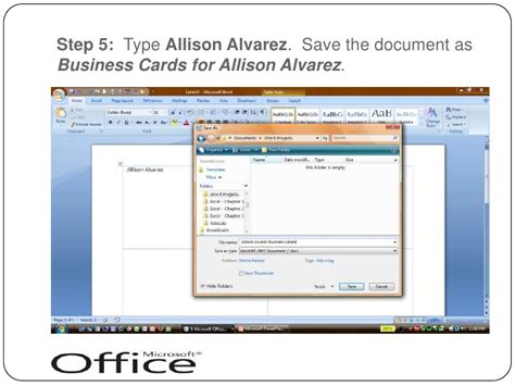 business card on microsoft word 2007 choice image card