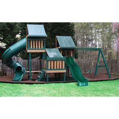 plastic coated wood swing set picket fences fencing and love on pinterest