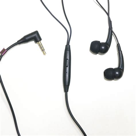 Headset Xperia black wire 3 5mm in ear headphones headset for
