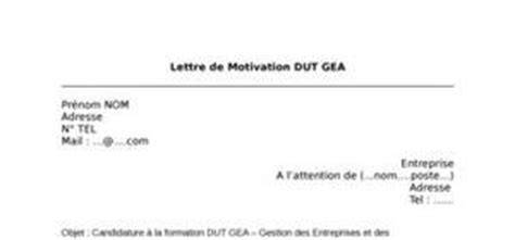 Lettre De Motivation Entreprise Alternance Dut Gea Dut Gea Lettre De Motivation