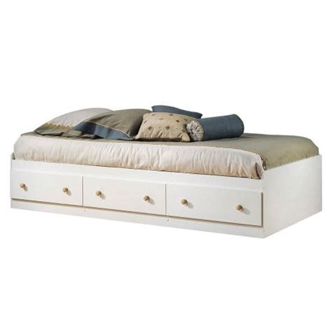 Daybed With Storage Drawers Size White Wood Platform Bed Daybed With Storage Drawers Ebay
