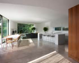 living dining kitchen room design ideas concrete floor living room grey living room concrete