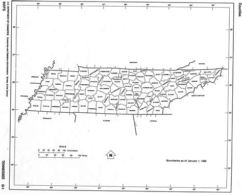 county map of tennessee tennessee state map with counties images