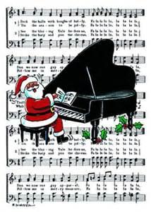 buy piano santa card stationery greeting cards cards