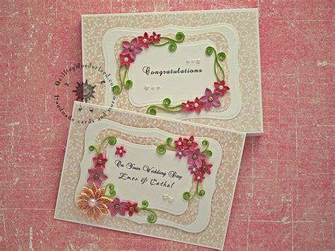 wedding card sles floral wedding congratulations card