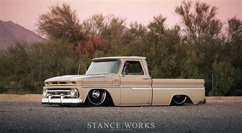 stance works 1965 chevy c10 patina and bags