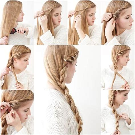 easy braid hairstyles to do yourself how to diy simple side braid hairstyle