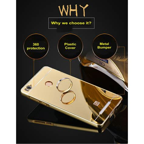 Aluminium Bumper With Mirror Back Cover For Xiaomi Mi Xiaomi Mi5 Gold aluminium bumper with mirror back cover for xiaomi redmi 3