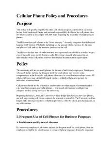 company cell phone policy template free printable cell phone policy form generic