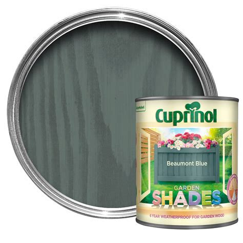 Cuprinol Garden Shades Beaumont blue Matt Wood paint 1L