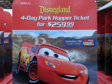 Cinetopia Gift Cards - costco 4 day disneyland park hopper ticket for 209 99 after costco gift card plus