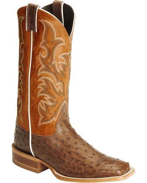 justin s aqha quill ostrich cowboy boot square