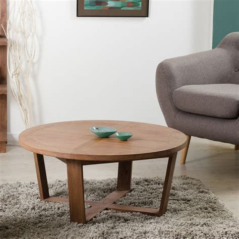table basse ronde 90 cm bois univers salon