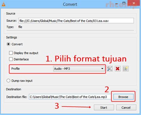 format yang dipakai dvd player cara mengubah format musik dengan vlc media player