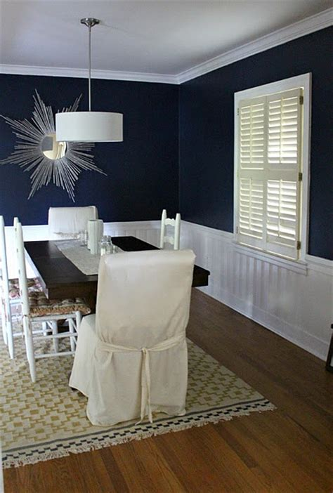 Blue Dining Room Walls by Navy Blue Wall Color For Dining Room For The Home