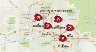 jet surge at arizona airports for bowl xlix