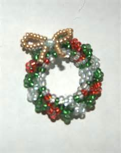 beaded christmas wreath by jupitergurl on deviantart