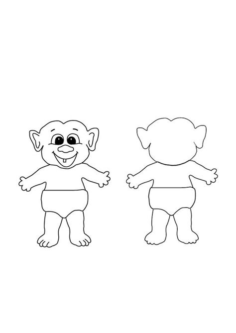 trolls template troll doll coloring coloring pages